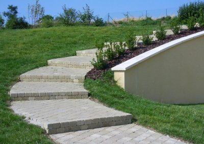 Escalier en pavés