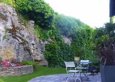 Terrasse rond en dalles