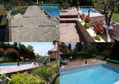 Aménagement d'une plage de piscine